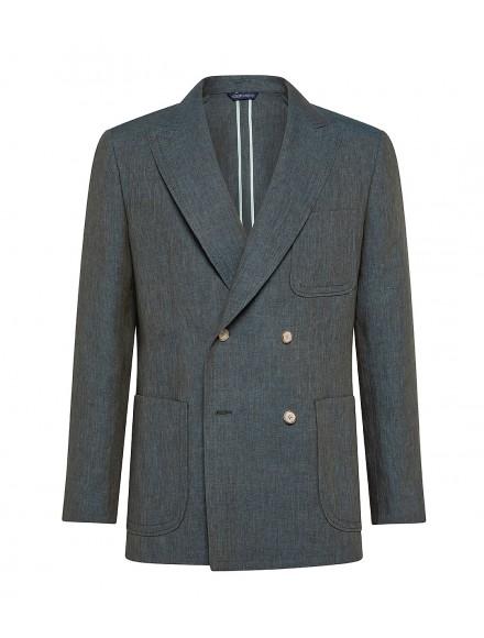 Elegant green linen jacket...