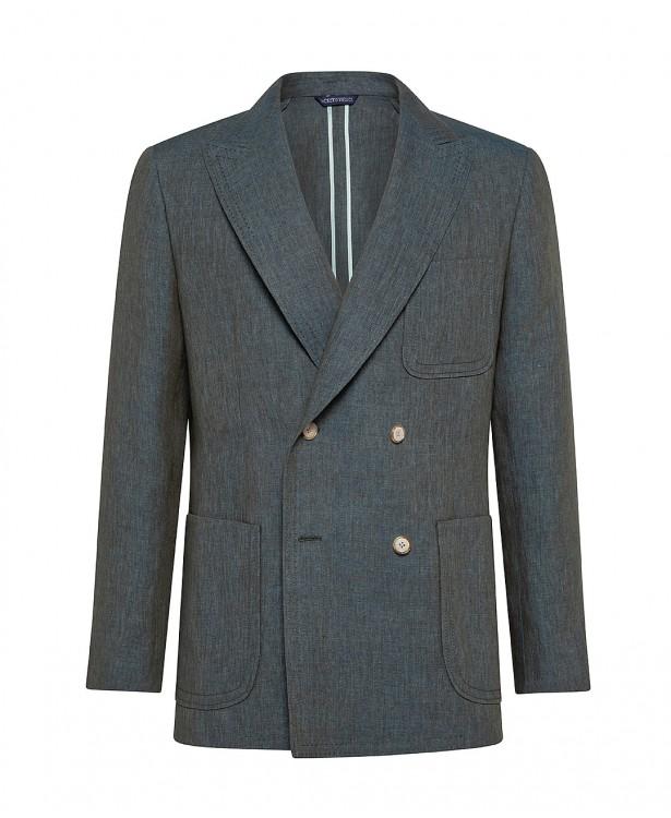 Elegant green linen jacket |...