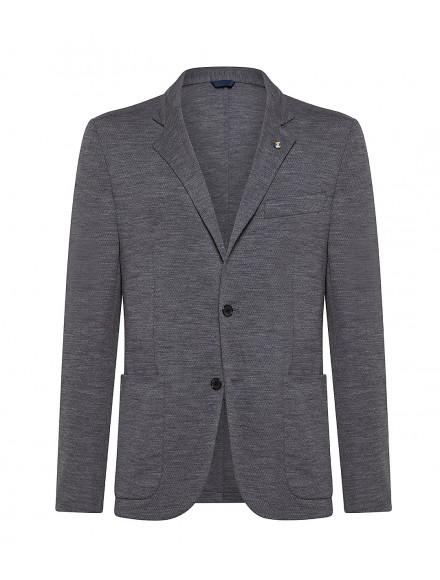 Grey Super 120s wool jersey...