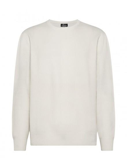 Cream-colored cashmere...