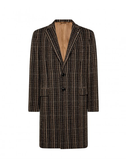 Brown coat in wool and...