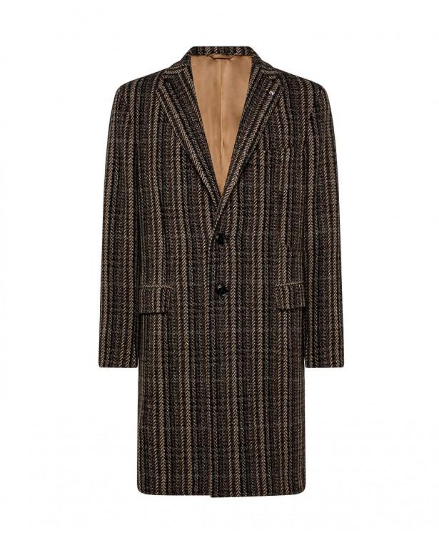 Cappotto marrone in lana e cashmere...