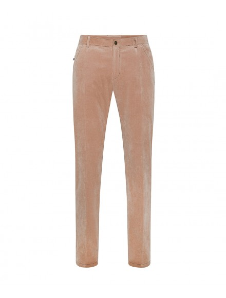 Pantaloni color salmone in...