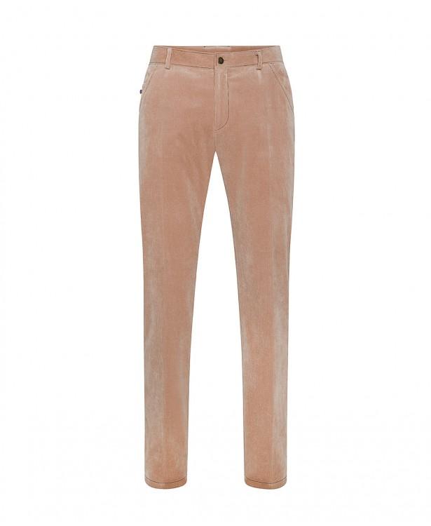 Pantaloni color salmone in velluto...