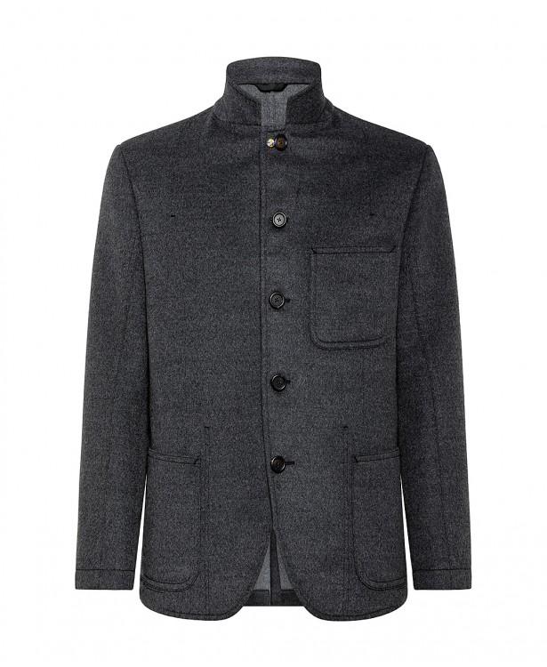 Giacca grigia in lana pregiata |...