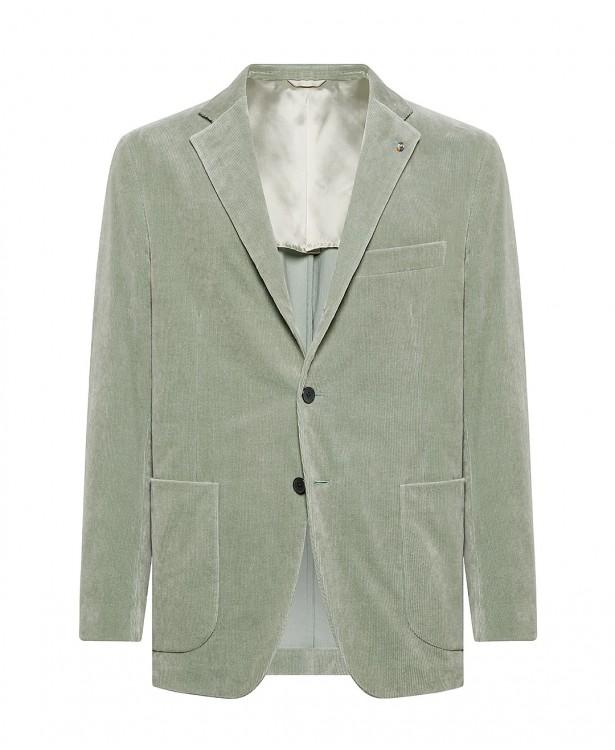 Mint green jacket in velvet, cotton,...