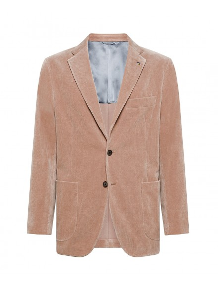 Salmon-colored jacket in...