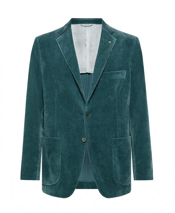 Bottle green jacket in velvet,...