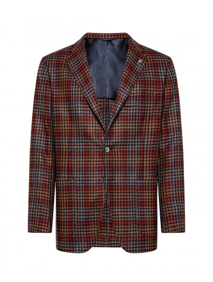 Red and blue jacket with...